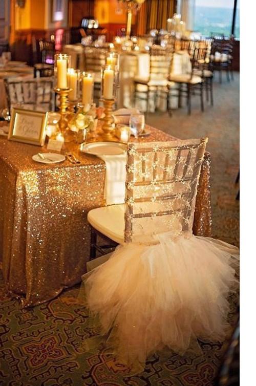 التول لديكور زفاف ملوكي!