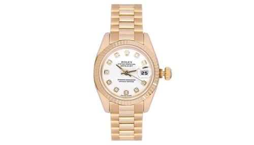 ساعة رولكس  Datejust النسائية أيقونة مرصعة بالألماس.