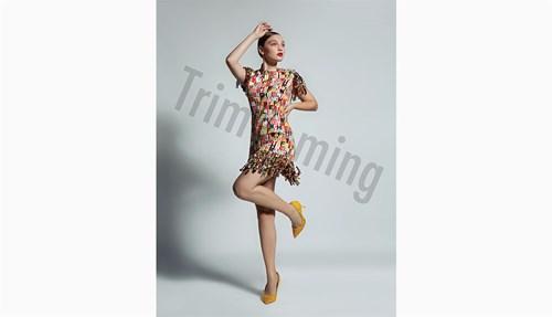 فستان وحذاء من  Elisabetta Franchi