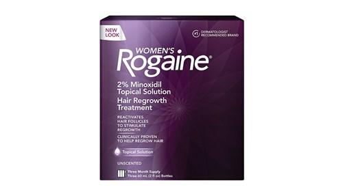 Rogaine Womens Regular Strength Hair Regrowth Treatment أفضل وأقوى العلاجات لإعادة نمو الشعر لا سيما لدى المصابات بفقدان الشعر الوراثي لاحتوائه على 2بالمئة من عقار المينوكسيديل. واظبي على استعماله لفترة لا تقل عن 4 شهور قبل رؤية النتيجة.