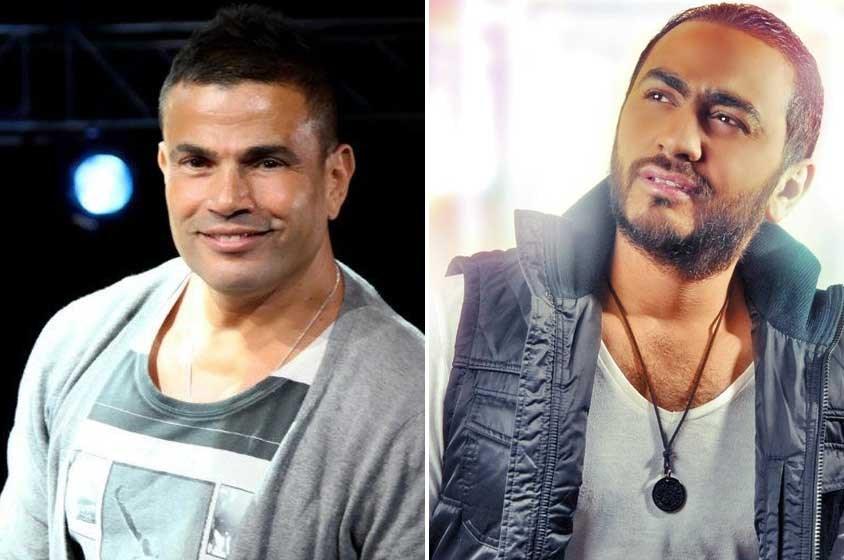 عمرو دياب وتامر حسني يلتقيان في العيد!