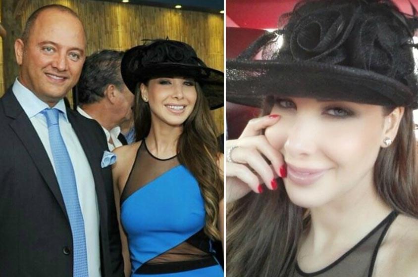 طلة اليوم: نانسي عجرم وزوجها يختاران الأزرق في كأس دبي