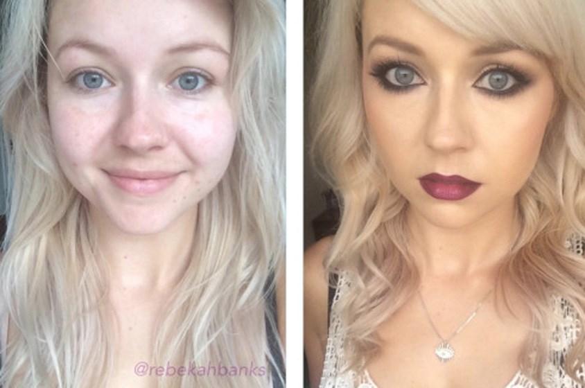 بالصور: نساء عاديات قبل وبعد المكياج