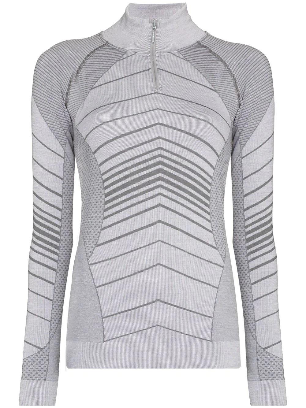 Sweaty Betty stripe-jacquard base layer ski top