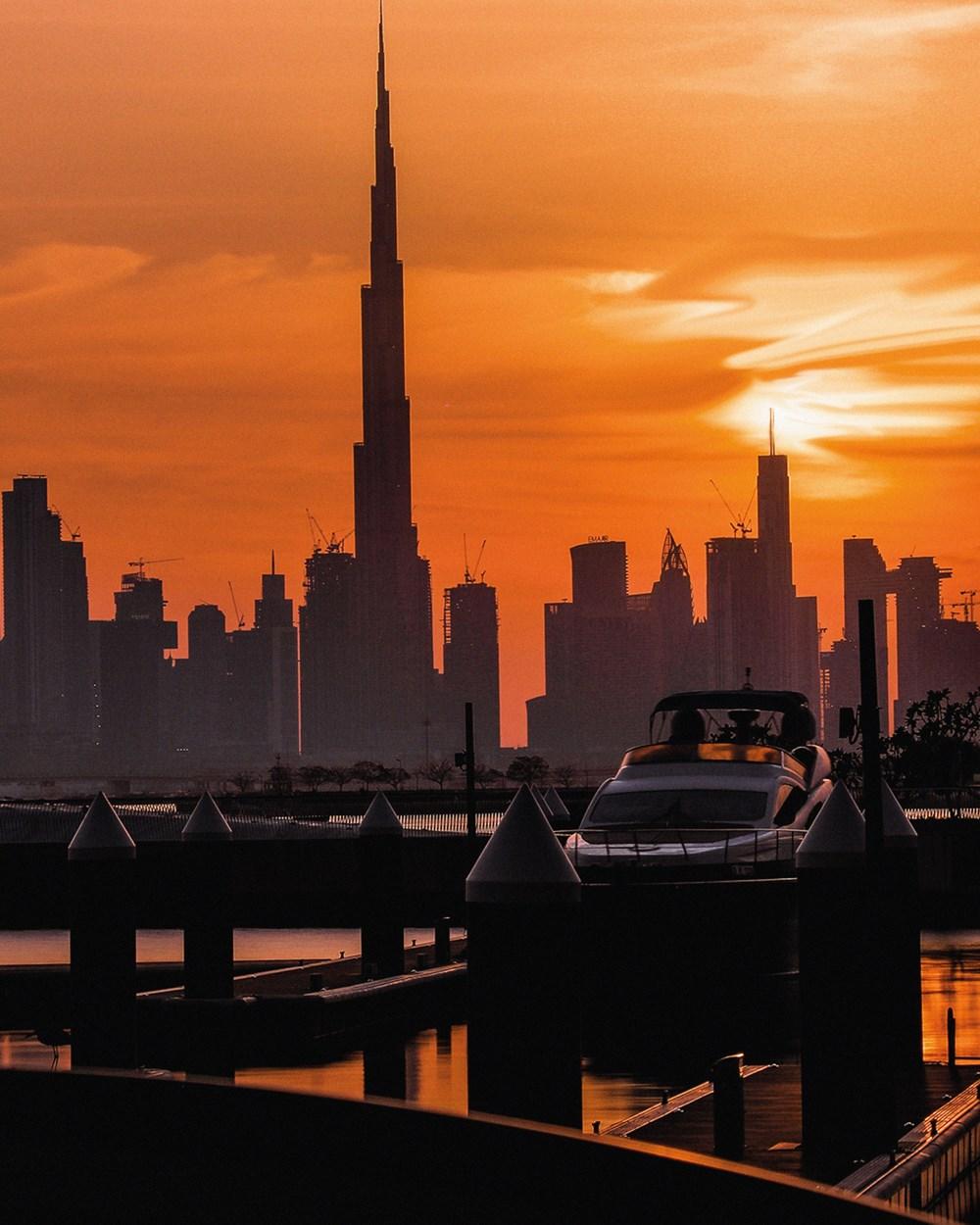 لحظة ساحرة لمدينة دبي في وقت الغروب                 تصوير: ميثاء عبدالله الرميثي                 maitha_ams