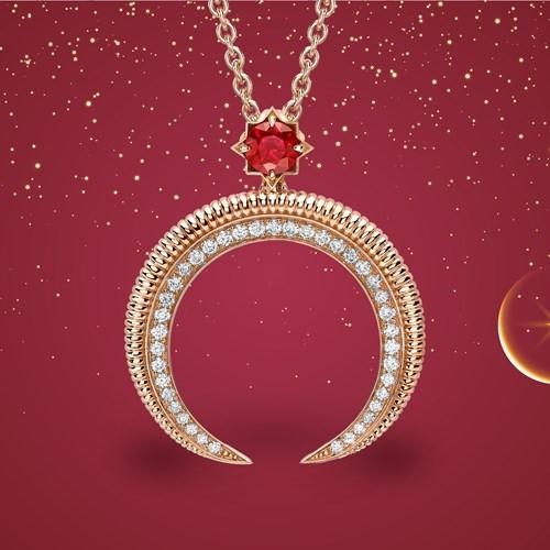 """Fabergé تطلق تشكيلة """"هلال"""" المرصّعة بالياقوت"""