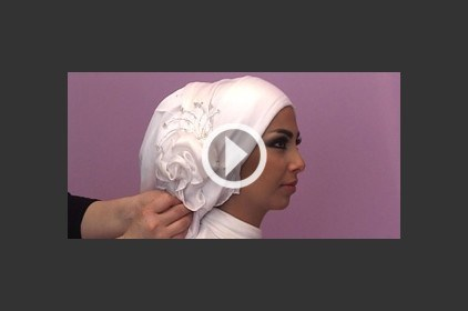 حجاب عروس مميزة
