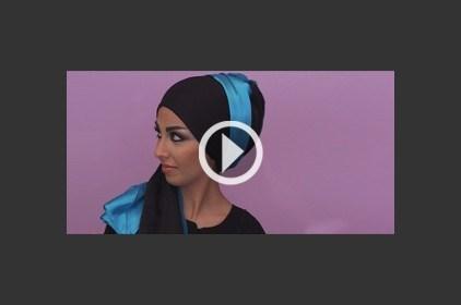 حجاب أزرق أنيق