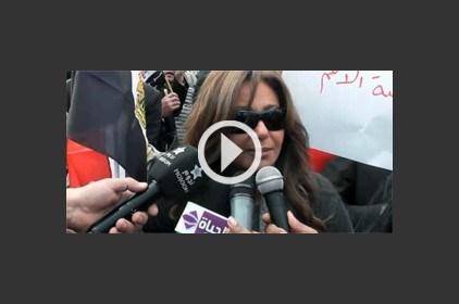 شاهدي هتافات الفنانات في مسيرة الدفاع عن الحريات